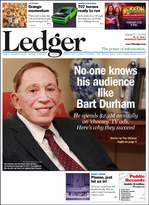 No one knows his audience like Bart Durham - The Nashville Ledger