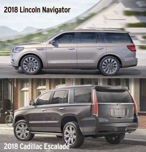 Luxury Compared Lincoln Navigator Vs Cadillac Escalade Friday February 9 2018 Vol 42 No 6 By Mark Takahashi Edmunds