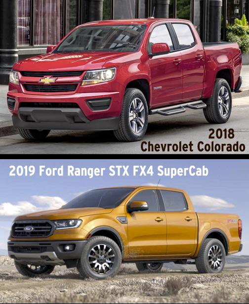 2019 Chevrolet Colorado Vs Ford Ranger
